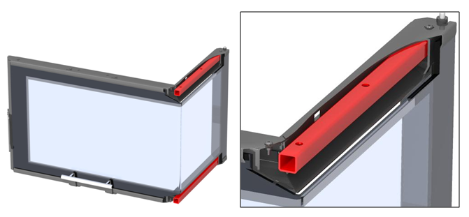Romotop Angel - рама дверцы с окаймляющей арматурой